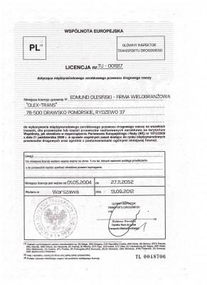 Transport License EU